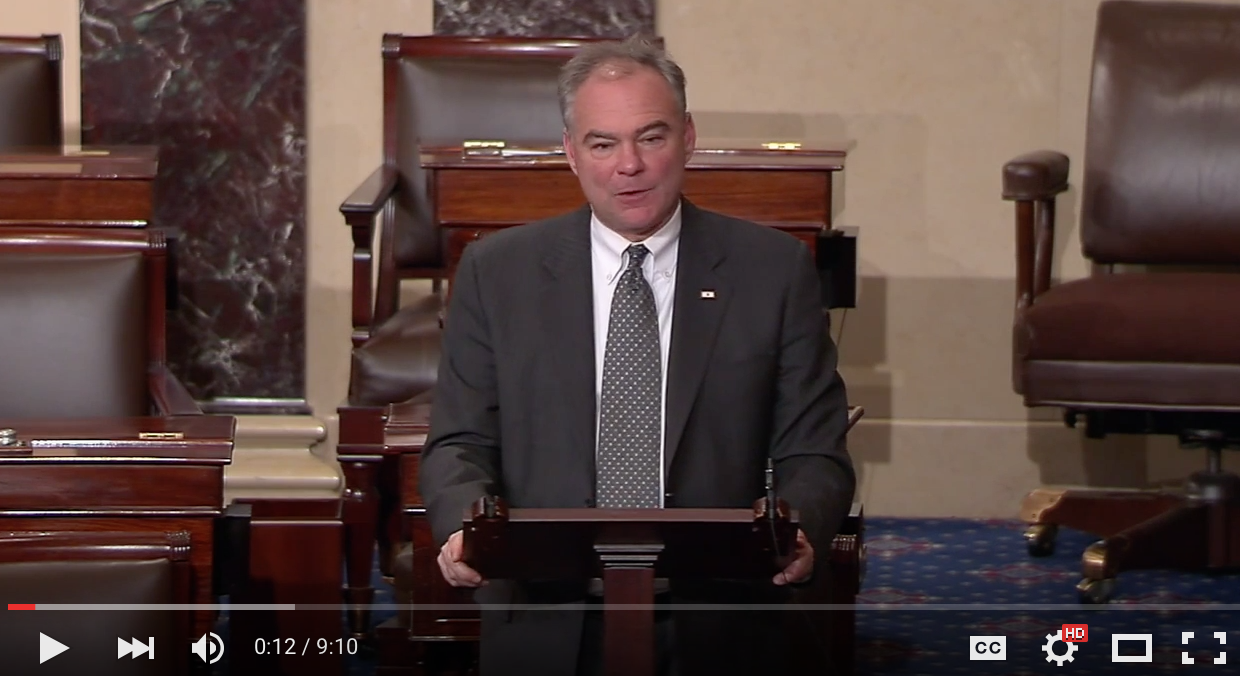 Citing Impact on Virginia Families & Economy, Kaine Says Affordable Care Act Repeal Would be 'Malpractice'