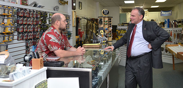 Kaine Meets with Small Businesses Across Virginia
